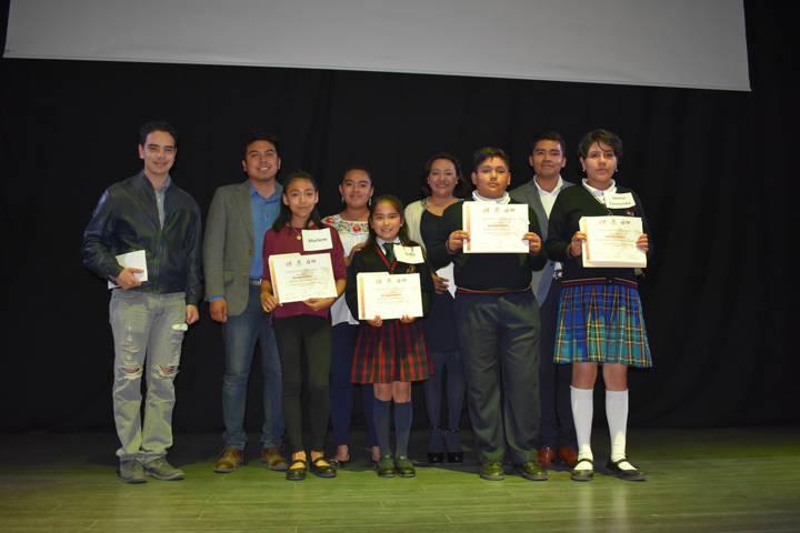 Marlen R. ganadora del concurso Niños Difusores 2018