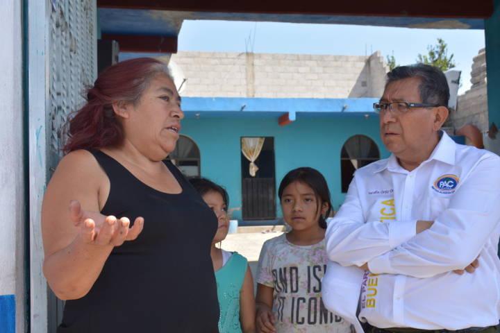 Llama Serafín Ortiz a construir un  camino de resultados con la buena política