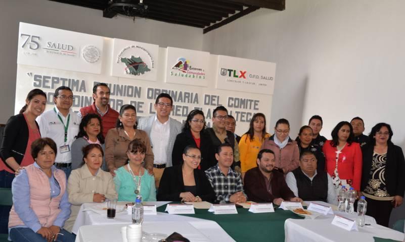 Nanacamilpa sede de la 7ma Reunión del Comité de la Red Tlaxcalteca por la Salud