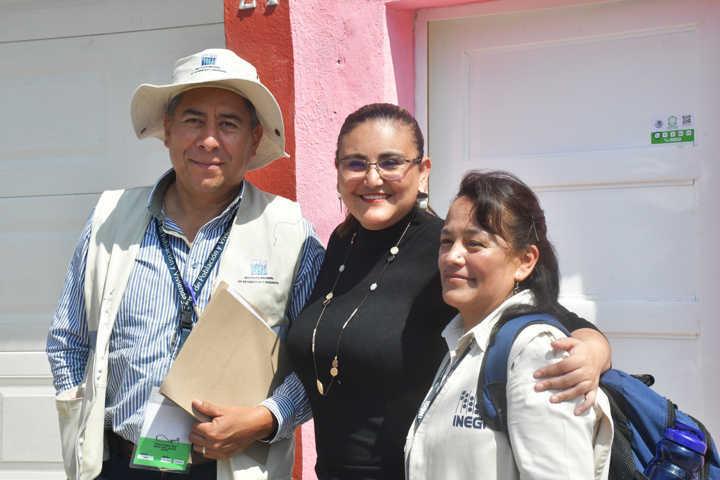 Inicia alcaldesa de Tlaxco Censo 2020 que realiza el INEGI