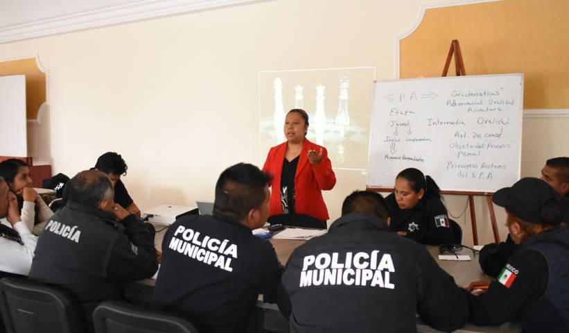 Policías municipales se profesionalizan en el Sistema Penal Acusatorio