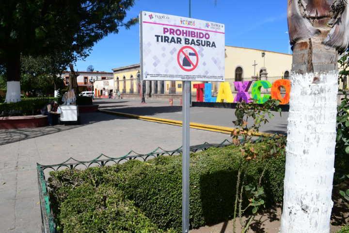 Invita Tlaxco a ciudadanos a no tirar basura en el centro histórico