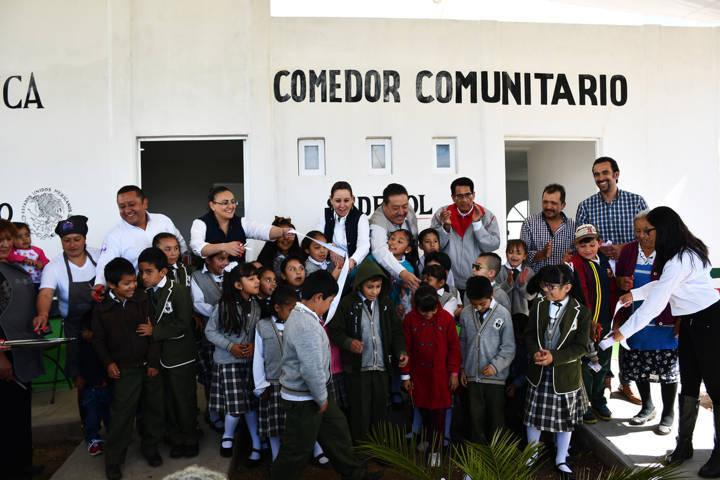 Inaugura comedor comunitario Sedesol y Gobierno Municipal De Tlaxco