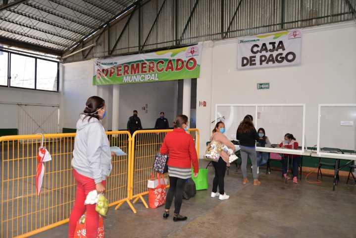 Ponen en marcha por quinto día Supermercado Municipal en Nanacamilpa