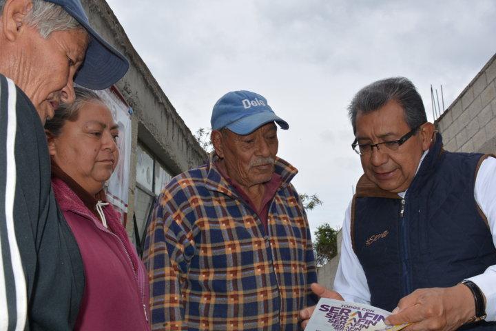 Insistiré en la Ley de cobertura total para el adulto mayor: Serafín Ortiz