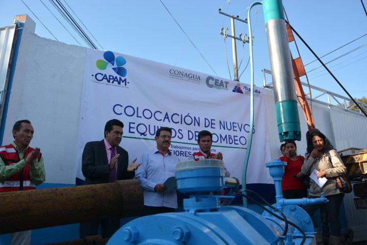 Con inversión histórica CAPAM coloca nuevos equipos de bombeo