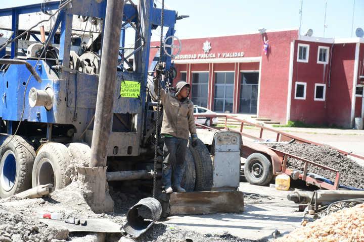 Construye Tlaxco nuevo pozo de agua potable en cabecera municipal