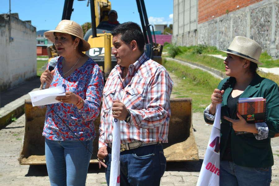 Lilia Olvera inicia obras de impacto social en Nanacamilpa
