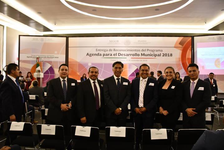 Obtiene Tlaxco reconocimiento nacional en evaluación de Agenda Municipal 2018