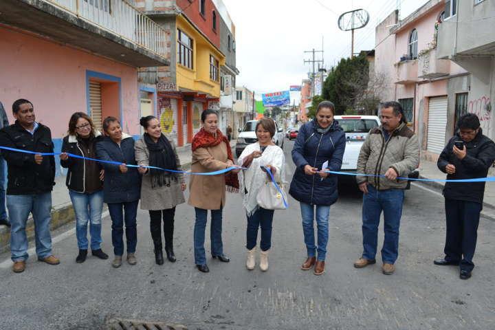 Lilia Olvera comienza inauguración de Obras en Nanacamilpa