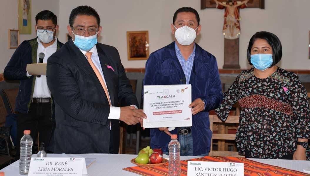 Nanacamilpa se suma a Estrategia de Participación Municipal contra Covid-19 e influenza