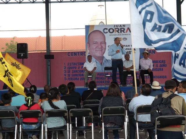 Madres solteras causa y motor de la campaña de Juan Corral