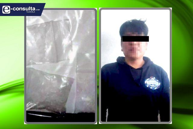 Detienen a una persona por posesión ilegal de narcóticos en San Pablo Del Monte