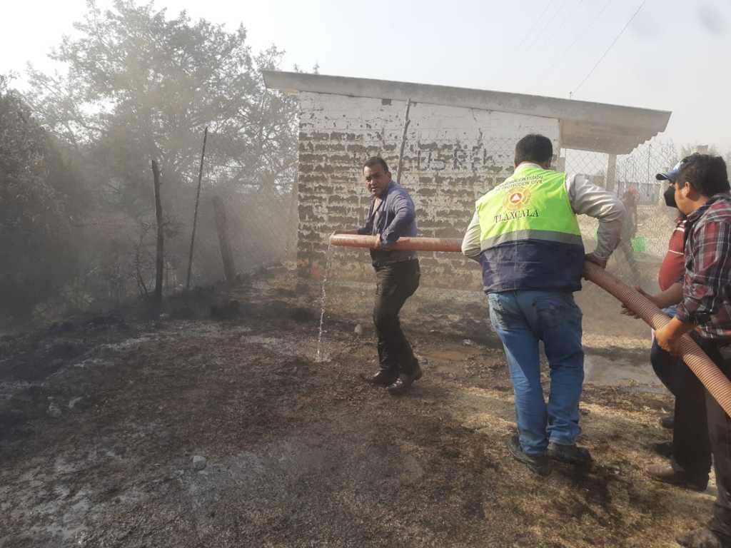 Activa CEPC protocolo de emergencia por incendio en Sanctórum