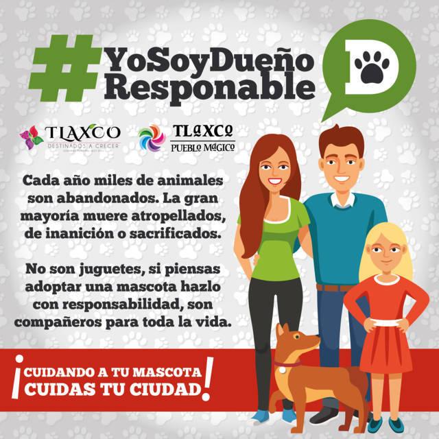 Anuncia Tlaxco campaña #YoSoyUnDueñoResponsable para disminuir perros