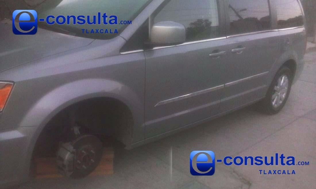 Roban neumáticos a plena luz del día en el municipio de Totolac