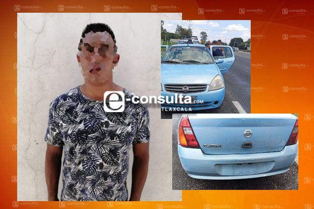 Gopes detiene en Tenancingo a sujeto y asegura un vehículo involucrado en robos