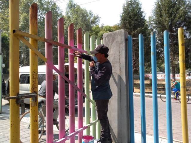 Inician trabajos de mejoramiento en el Parque Recreativo Serdán de la 5ta secc.