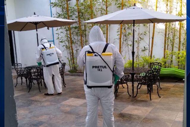 Se realiza gobierno de Tzompantepec sanitización de espacios e inmuebles públicos