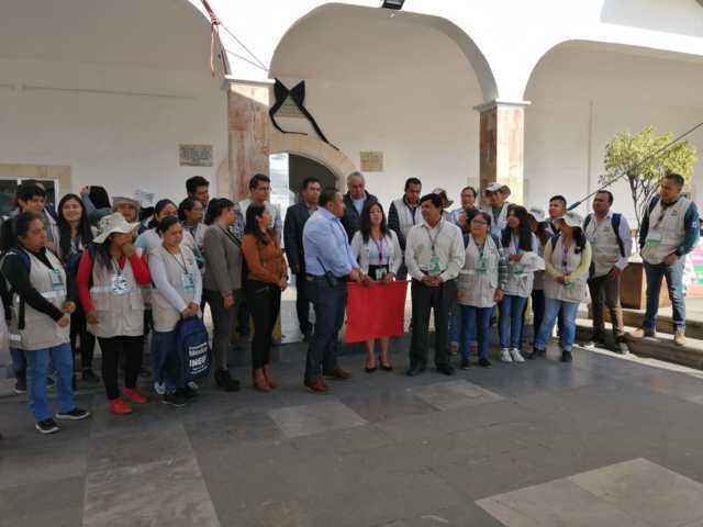 Arrancó censo del INEGI en el Xicohtzinco, edil dio el banderazo