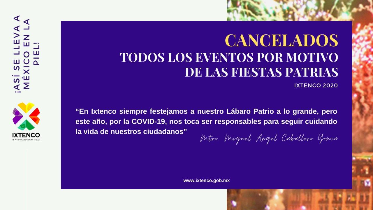 Anuncia Ixtenco, CANCELACIÓN de festejos patrios