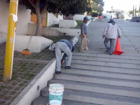 Concluyen mantenimiento en Escalinatas de los Héroes de la capital