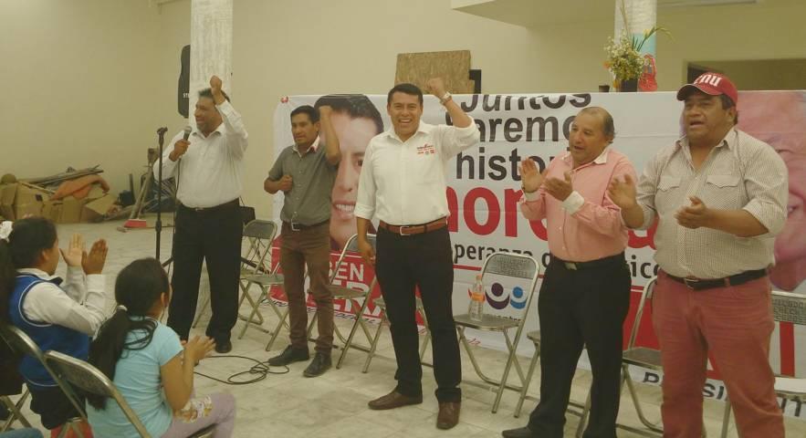 San Pablo del Monte vuelca apoyo para Rubén Terán