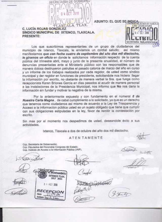 Síndico de Ixtenco pedía transparencia y ahora la niega: Ciudadanos