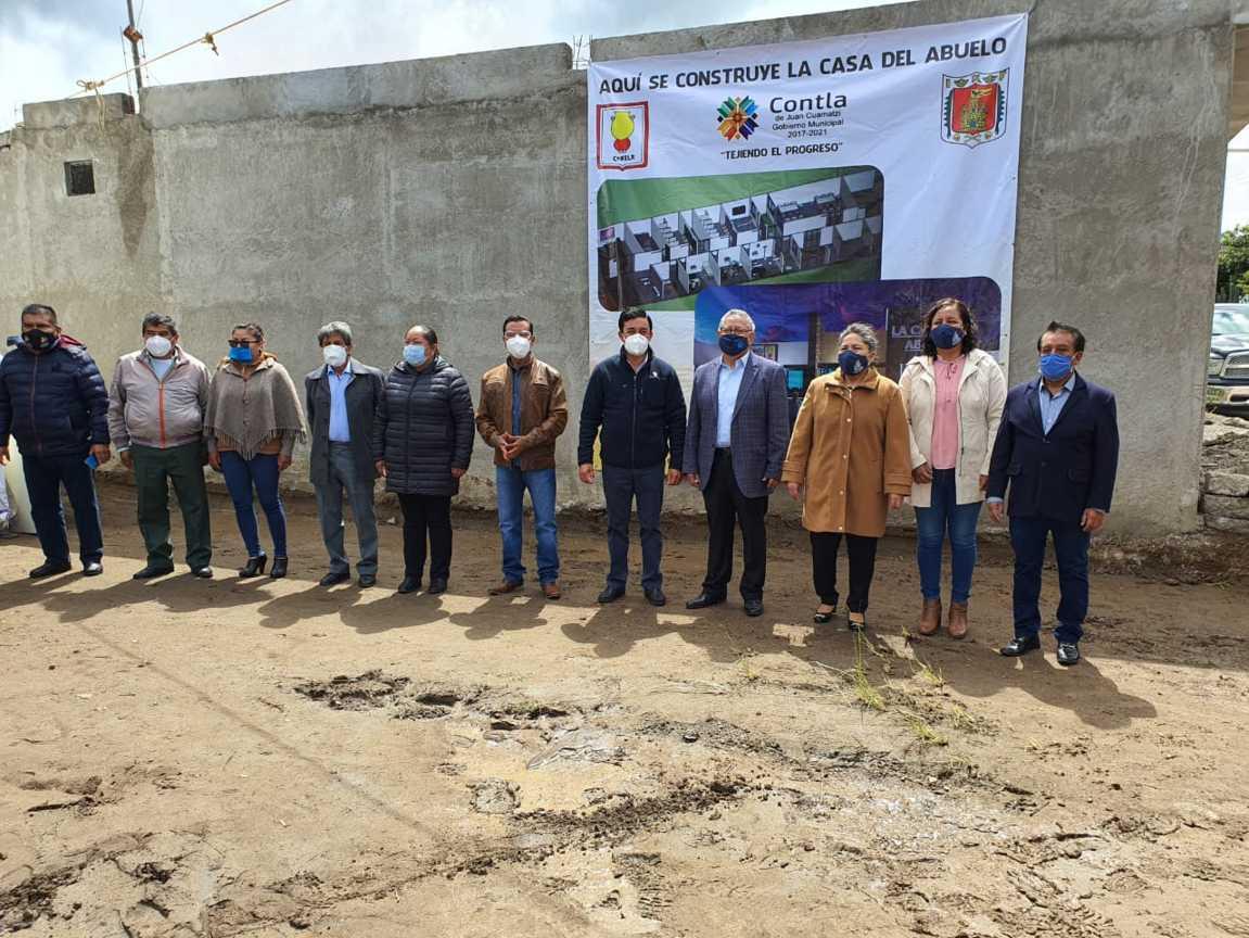 Asiste Diputado Rafael Ortega a arranque de obra en Contla