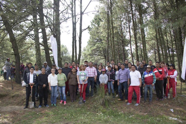 Lidera Héctor Domínguez Rugerio reforestación en Tlalcuapan