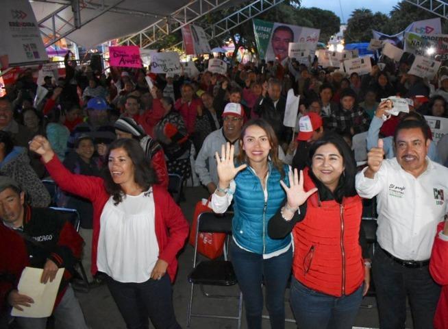 Cierran campaña Eréndira Cova y Heriberta Días, candidatas de la mega alianza