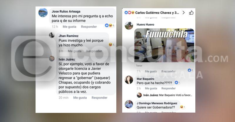 Tunden a senadora en redes sociales por informe
