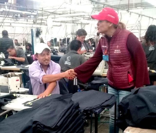 Mejores salarios e impulso a la industria propone Michalle Brito