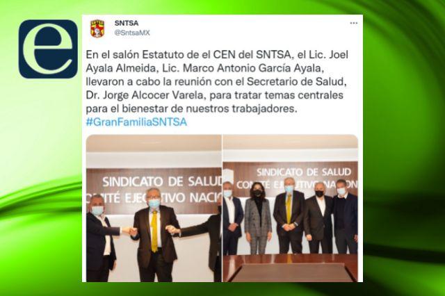 Trabaja Gobierno Federal con sindicato nacional a fin a Blanca Águila