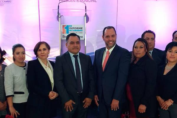 Alcalde Eleazar Molina rinde primer Informe de Gobierno de Tetla