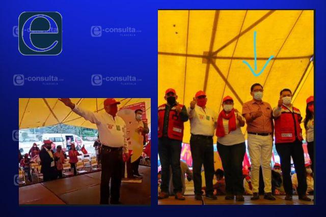 Eloy Berruecos hace campaña con acarreados y difunde fotos manipuladas