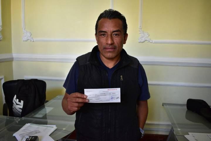 Presidente de Yancuitlalpan ha recibido 629, 719 por parte del Ayuntamiento