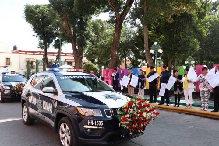 Alcalde refuerza la seguridad en el municipio con 7 patrullas más