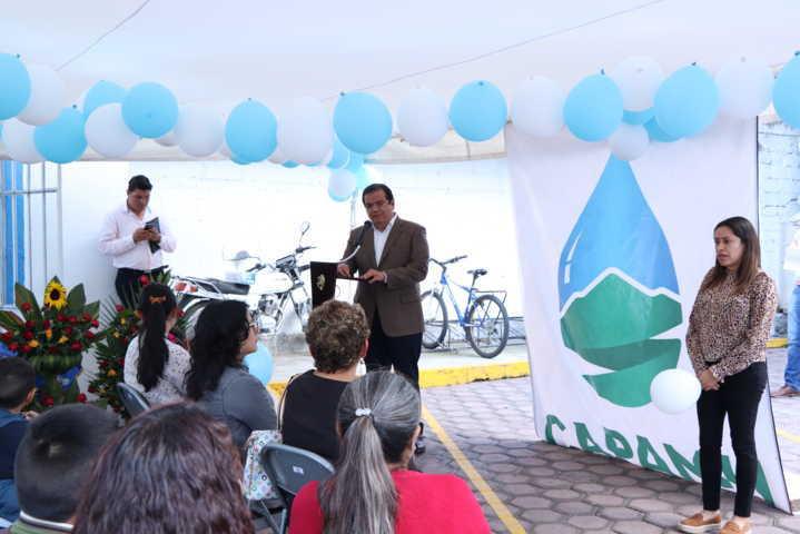 Alcalde reconoce el trabajo y la trasparencia de los recursos de la CAPAMH