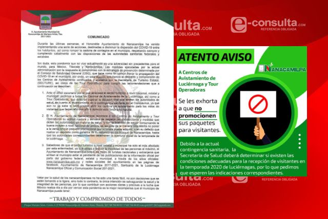 Pide Ayuntamiento a no promocionar paquetes para visitantes en Nanacamilpa
