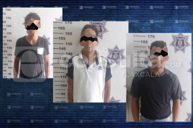 La SSC detiene en Apizaco a tres personas con droga