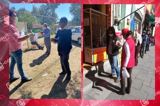 Brigadas especiales concientizan a población huamantleca para acatar medidas sanitarias