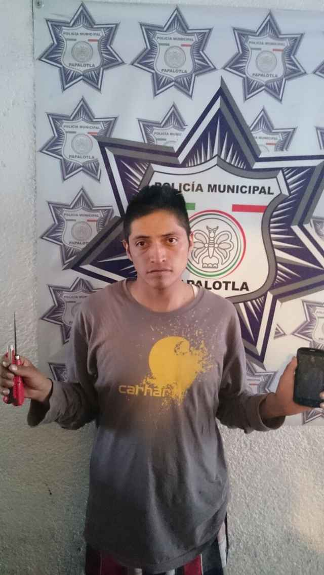 Frustra robo policía municipal de Papalotla