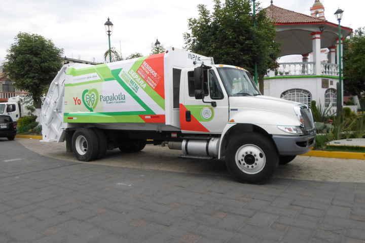 Mejora Papalotla servicios de recolección de basura