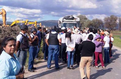 Levanta CES bloqueo en Texoloc por gasoducto