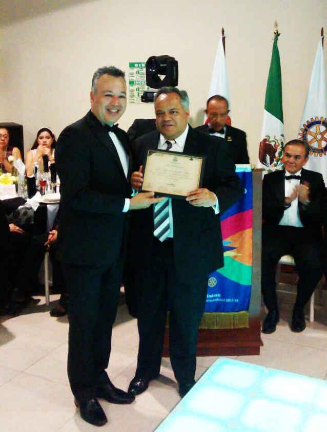 Reconoce Club Rotario labor del Alcalde de Huamantla