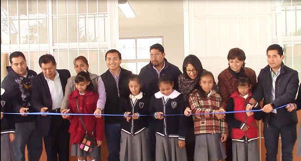 Inauguran comedor escolar en comunidad de Huamantla