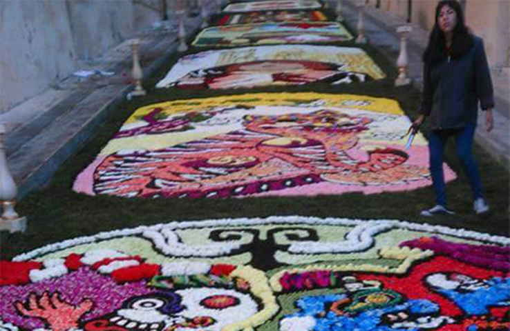 Maravilla  al mundo el arte efímero de las alfombras de  Huamantla