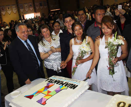 """Se casan 219 parejas en Huamantla con """"Bodas en movimiento 2016"""""""