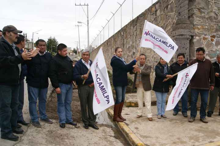 Culmina rehabilitación de la cuneta de la Avenida Hidalgo en Nanacamilpa